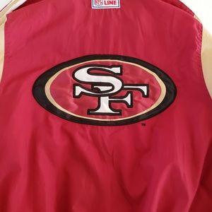 SAN FRANCISCO 49ERS VINTAGE STARTER JACKET SZ L